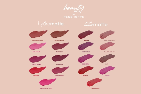 Beauty Pop by Penshoppe Color Swatch Sheet